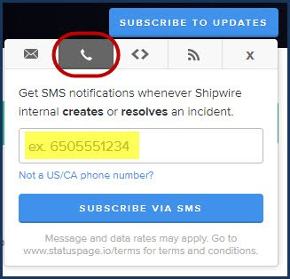 SMS subscription